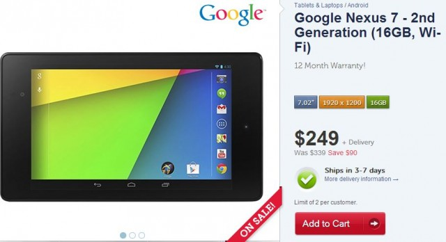 Good Deal: 16GB WiFi Nexus 7 (2013) now available for $249 from Kogan for 24 Hours