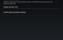 Power saving options