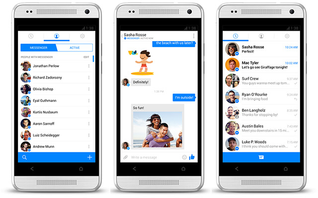 Facebook sending out messages to inform everyone from now on use its Messenger app
