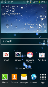 Touchwiz default home screen