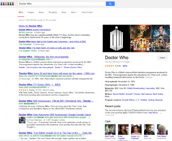 Google Doctor Who Screen