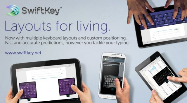 Swiftykey adds 'Layouts for Living' to their keyboard, combining tablet and phone into one App
