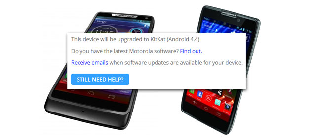 Will Motorola's RAZR M & RAZR HD phones see a KitKat update in Australia?