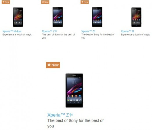 Xperia Z1s appears briefly on Sony Global website – could be the international version of the Z1 f