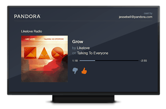 Pandora adds Chromecast support and new tablet UI