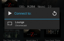 Select your Chromecast