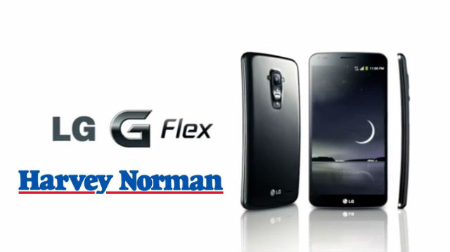 LG G Flex launching in Australia exclusively with Harvey Norman in February