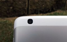 The 5MP rear camera is at the extreme top left (facing you) of the rear of the device.