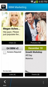BBM Larger Groups Screenshot