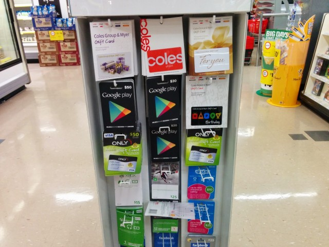 Coles - Google Play Gift Cards