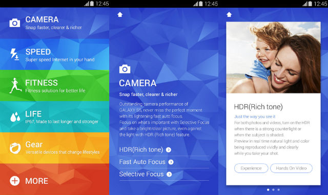 Samsung releases the Galaxy S5 experience App to Google Play – Try before you buy