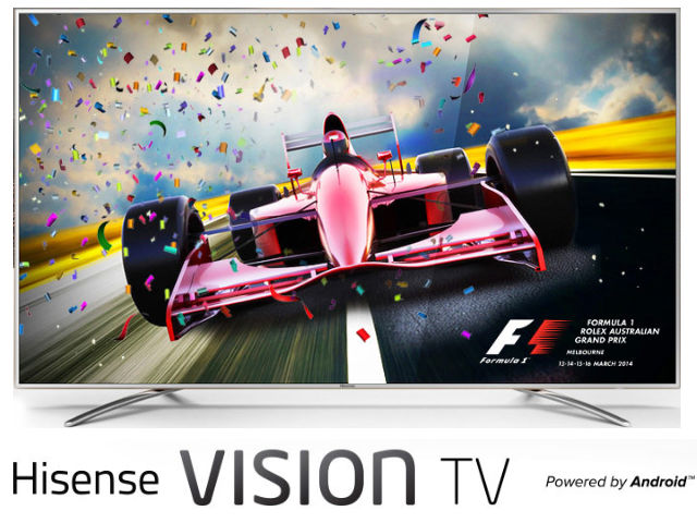 Hisense UHD Android Vision TV's now available in Australia