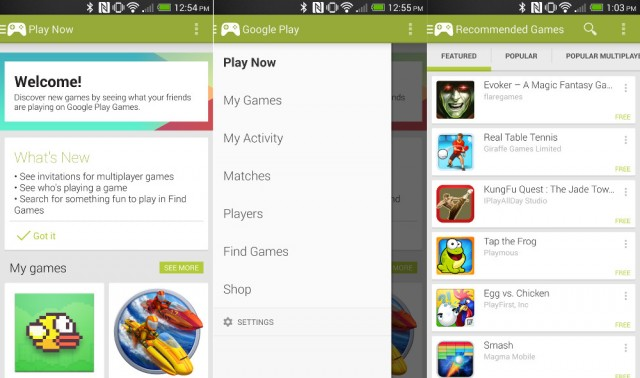 Google Play Games app updated to V1.5 with new features