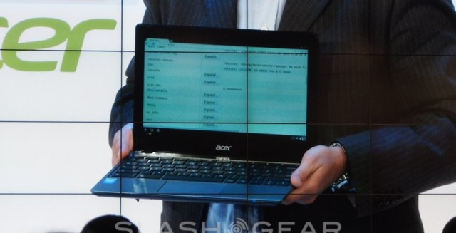 Acer shows off a new Intel Core i3 based Chromebook