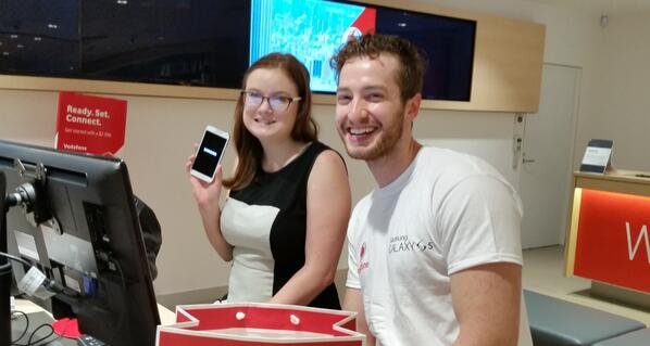 Meet Brittany, Australia's first official Samsung Galaxy S5 owner