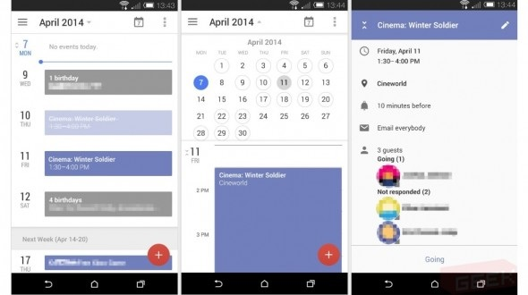 Improved Calendar App for Android in testing