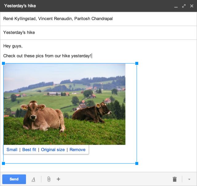 Gmail resize pics