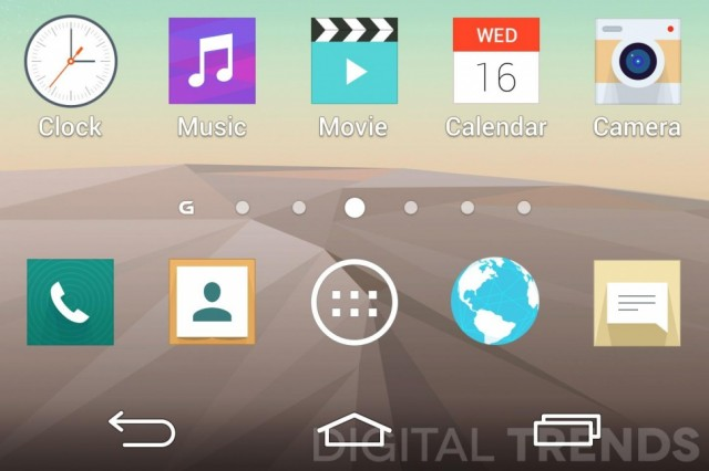 LG G3 Screenshots - 4 Softkeys