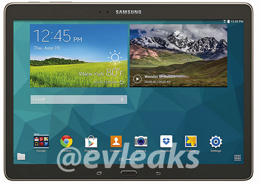 Press renders for the Galaxy Tab S 10.5 surface