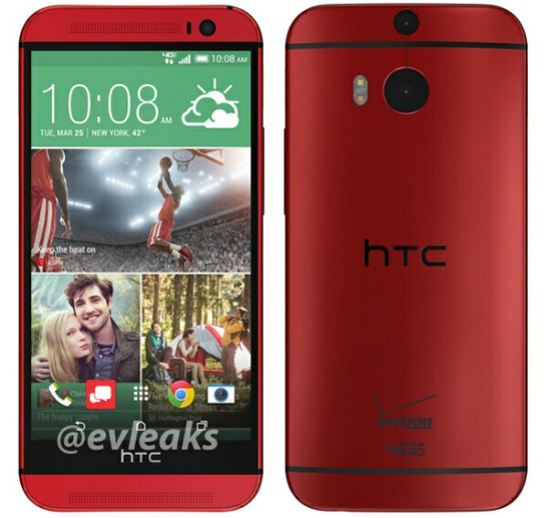HTC One M8 appears in red, live pictures and renders available.