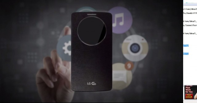 LG shows off new QuickCircle case for the G3 with circular window