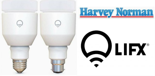 LIFX LED Smart Bulbs now available from Harvey Norman