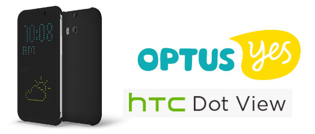 Get a free Dot View Case with the HTC One M8 when you sign up with Optus