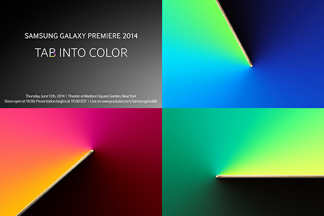 Samsung schedules 'Tab into Color' Galaxy Tab event for June 12th in New York