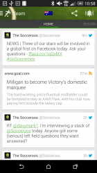 View aggregated tweets, RSS and more