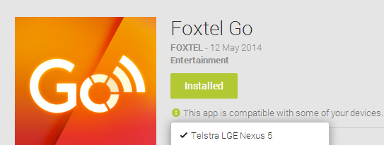 Exclusive: Foxtel Go now available on the Nexus 5!