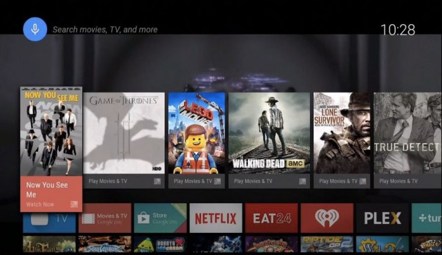 Android TV Interface 1