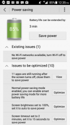 Extending battery life - all this for 3 minutes