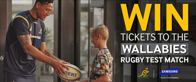 Win tickets to see the Wallabies play in Sydney and two Galaxy S5s thanks to Samsung