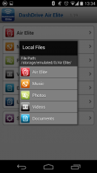 You can also browse local files