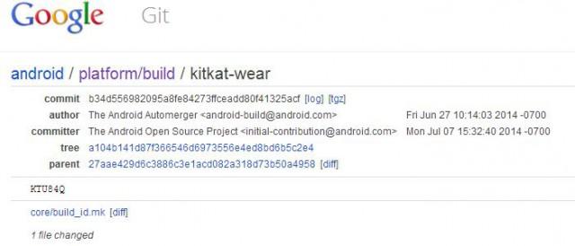 Google uploads Android Wear source to AOSP