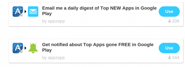 Like to know about new apps on Google Play? IFTTT has just introduced a new App Zapp channel