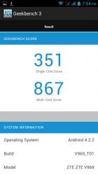 Geekbench Results