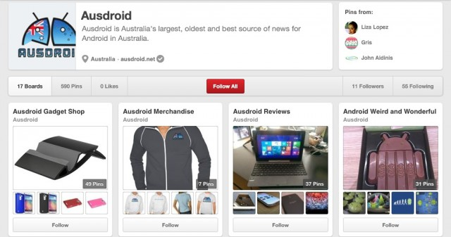 Ausdroid is on Pinterest!
