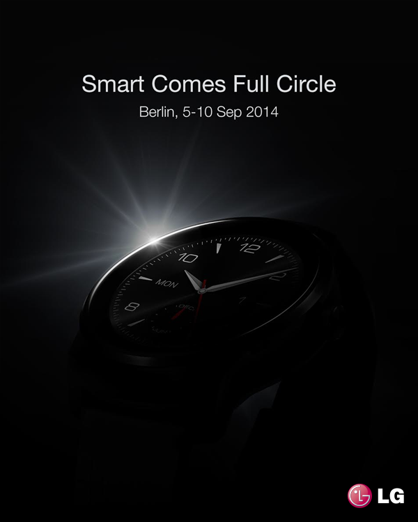 LG teases G Watch R for IFA; shows it off and makes a sly dig at the Moto 360