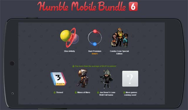Humble Mobile Bundle 6 now available – three games for whatever price you want