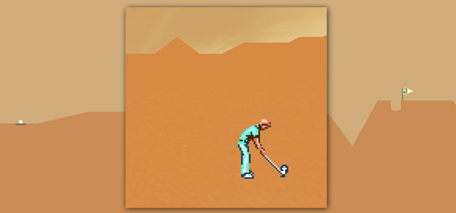 Desert Golfing is infuriatingly simple, and well worth your $0.99