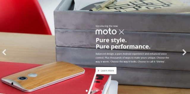 Motorola.com updates with new products, a Moto 360 mini site including specs … and a Flying High gag