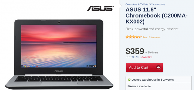 Grab an Asus Chromebook C200 from Kogan now