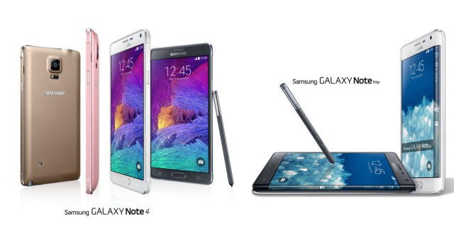 Vodafone's pricing for the Note 4 and Note Edge released