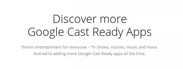 Google updates Chromecast section in Play Store to Google Cast