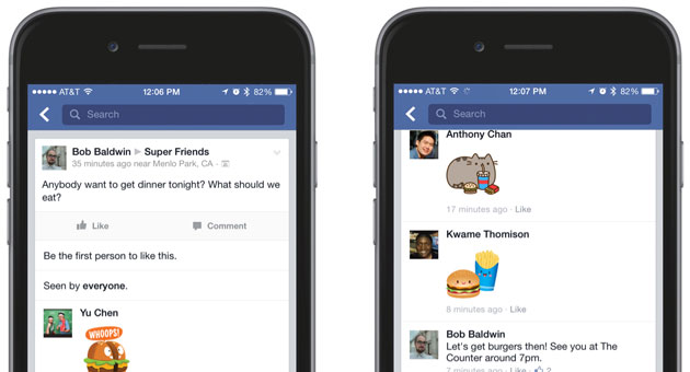 Facebook stickers are coming to comments