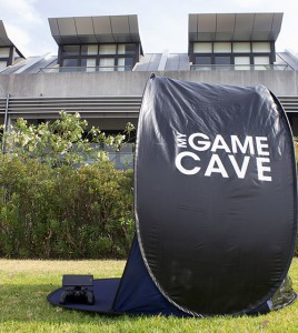 The Game Cave tent. You could be playing games in here!