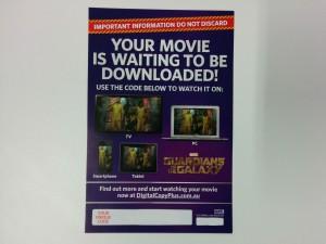 Guardians of the Galaxy Digital Copy