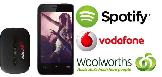 Voda Smart 2+3G wifi+Spotify Woolies banner