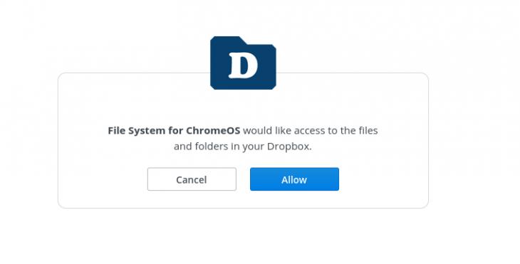 Dropbox for ChromeOS